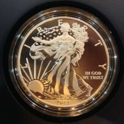 2013-W American Silver Eagle enhanced uncirculated coin