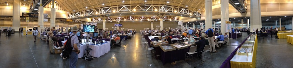 Panorama of the 2013 National Money Show bourse floor at the Ernest N. Morial Convention Center in New Orleans