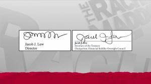 MSNBC on-air comparison of Jack Lew's autograph
