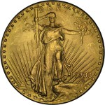 1933 Saint Gaudens Double Eagle (obverse)