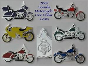 2007 Somalia Motorcycle Non-circulating Legal Tender Coins