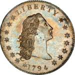 1794 Flowing Hair Silver Dollar, PCGS SP66 CAC, sold for a record $10,016,875 to Legend Numismatics in 2013