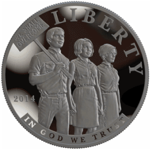 2014 Civil Rights Act of 1964 Silver Dollar obverse