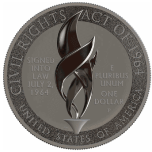 2014 Civil Rights Act of 1964 Silver Dollar reverse