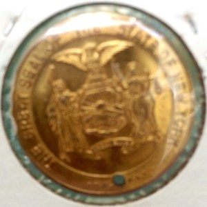 Reverse of the Empire State Building medal