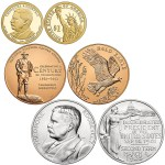 The coins and medals that are part of the 2013 Coins and Chronicles Set