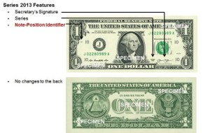 Changes to the $1 Note