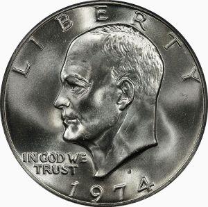 Eisenhower Dollar Obverse