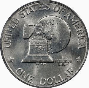 Eisenhower Dollar (Type 2) Bicentennial Reverse