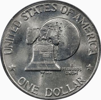 Bicentennial Dollar Type 2 (1976) Reverse
