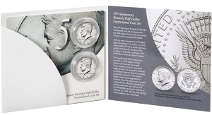 50th Anniversary Kennedy Half-Dollar Uncirculated Coin Set