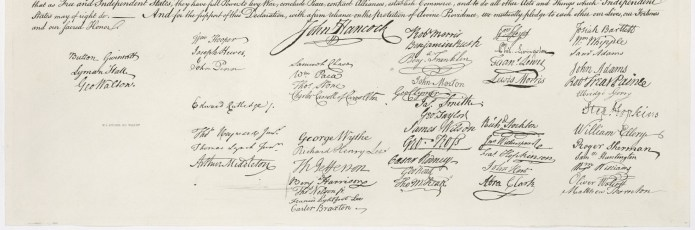 US Declaration Independence Signatures