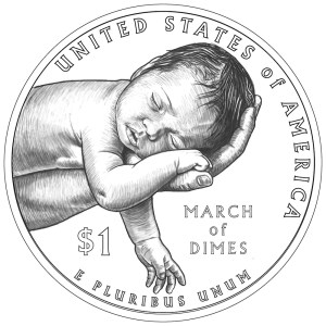 Reverse of the 2015 March of Dimes Commemorative Silver Dollar