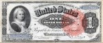 Series 1886 $1 Silver Certificate featuring Martha Washington (Fr #217)