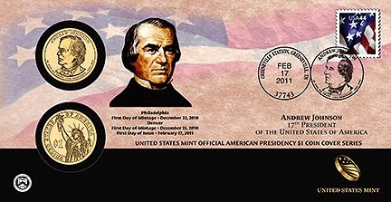 2011 Andrew Johnson First Day Cover (after branding)
