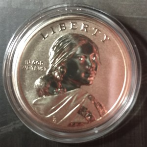 Obverse of the 2015-W Enhanced Uncirculated Native American Dollar