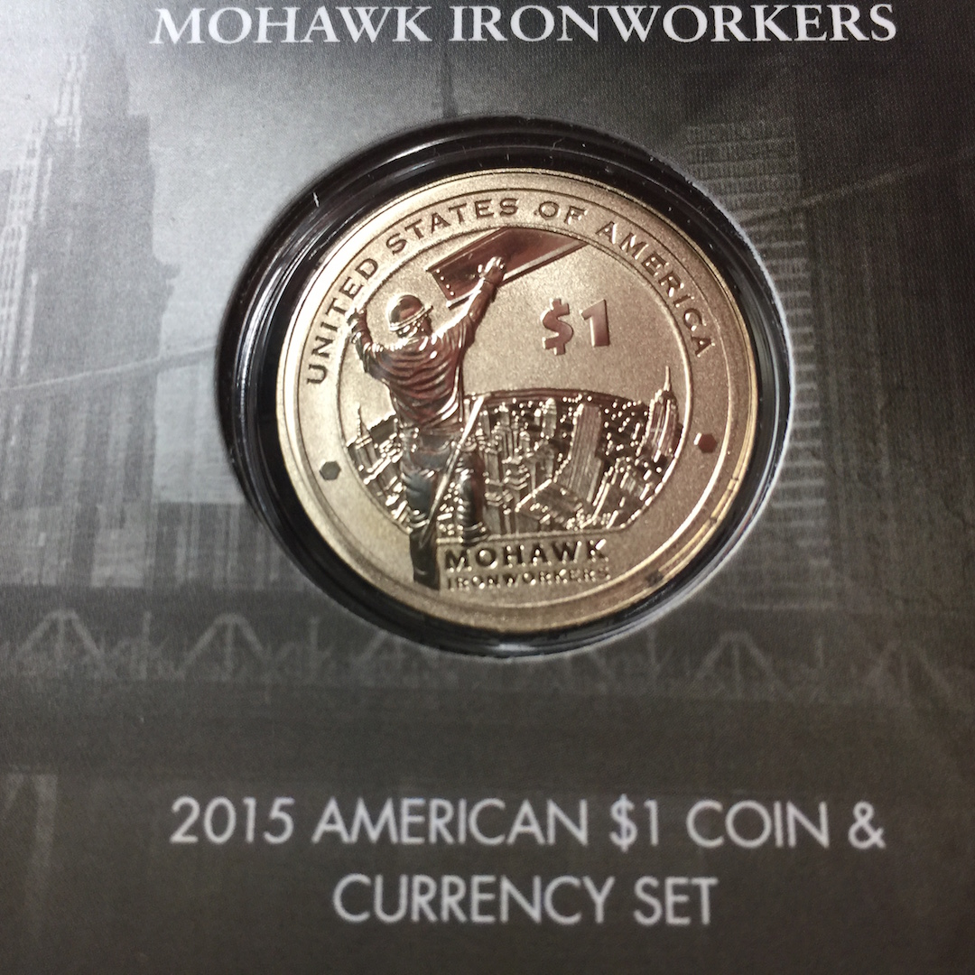 Reverse of the 2015-W Enhanced Uncirculated Native American Dollar