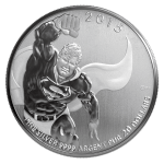 "Reverse of the Royal Canadian Mint $20 for $20 coin featuring ""The Man of Steel"""