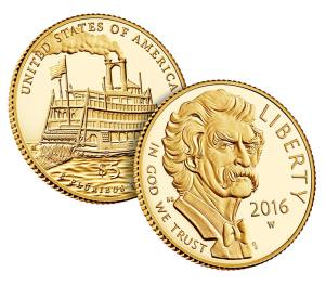 2016-W Mark Twain $5 Commemorative Gold Coin