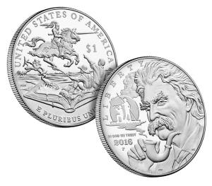 2016 Mark Twain Commemorative Silver Dollar