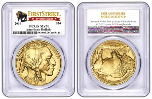 The PCGS 30th anniversary label for silver (shown here) and gold 2016 First Strike American Eagles. (PCGS)