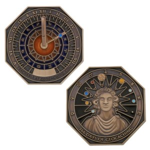 Leap Year Sundial Travel Tag (courtesy of Geocoins For All)