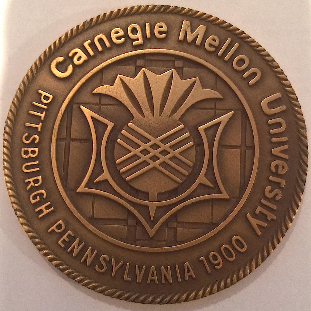 Obverse of the Carnegie Mellon University medal features the school's logo