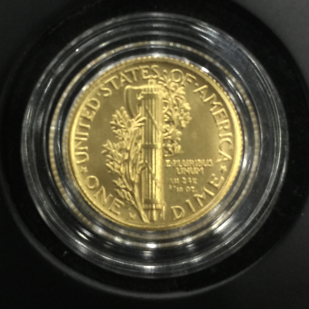 Reverse of the to be released 2016 Mercury Dime Centennial Tribute