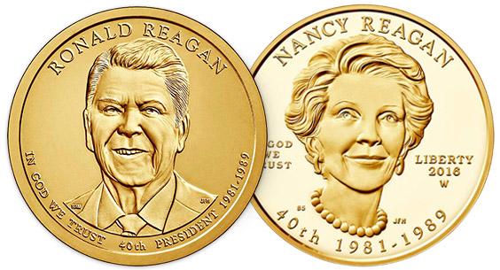 2016 Ronald Reagan Presidential $1 Coin /& First Spouse Medal Set