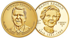 2016 Ronald Reagan dollar & 2016-W Nancy Reagan $10 gold coin