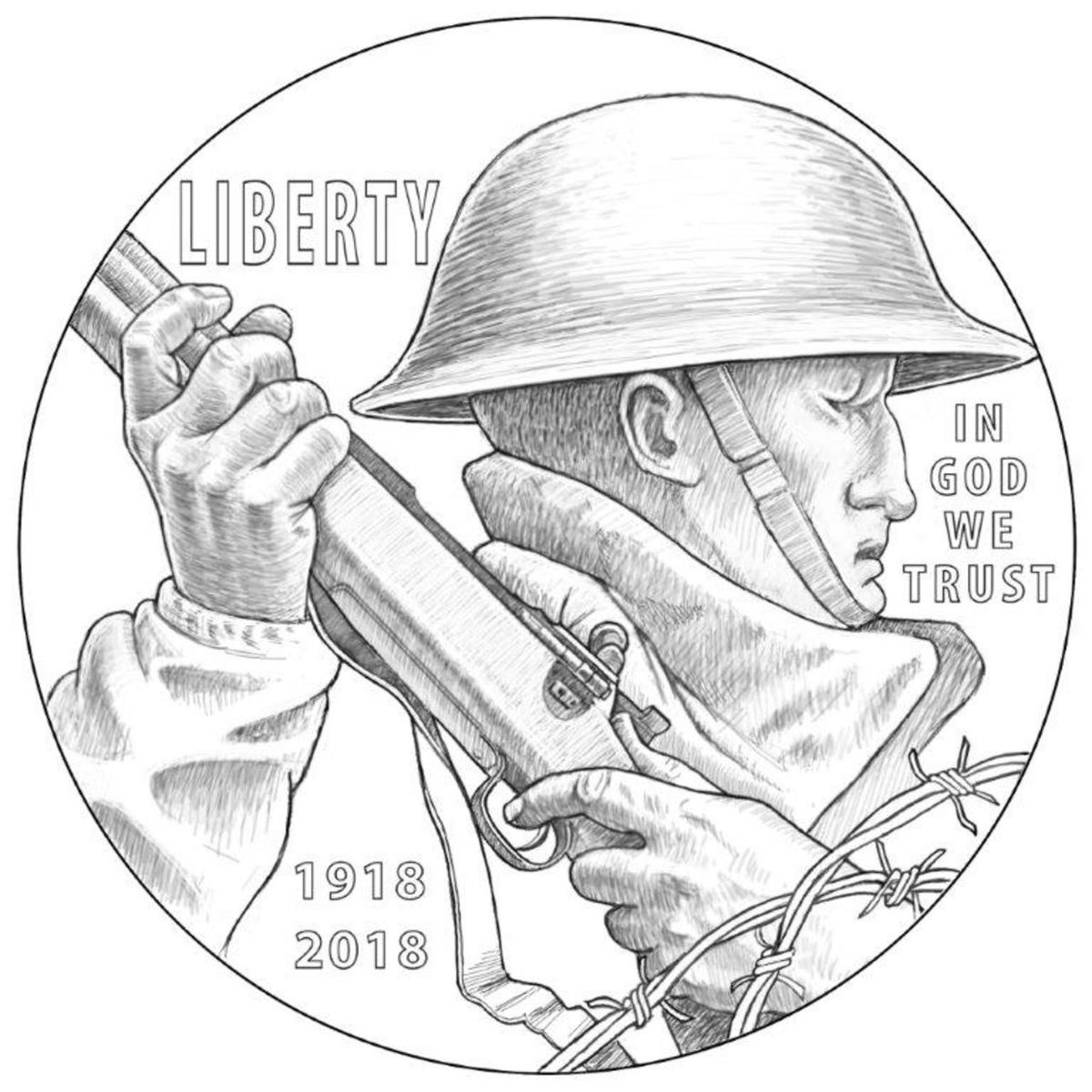 U S Mint Announces Wwi Centennial Commemorative Design