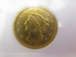 1878 Liberty $2 1/2 Quarter Eagle Gold Coin