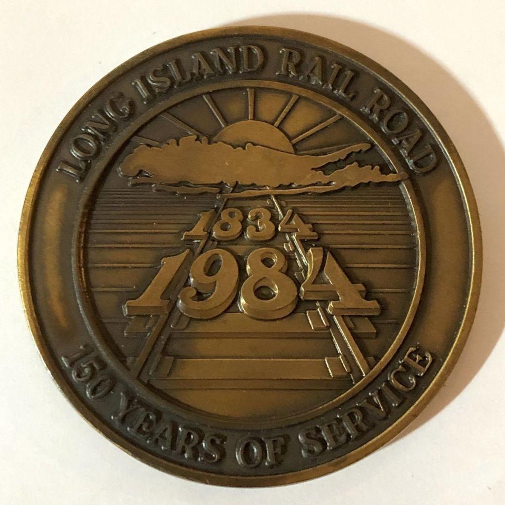LIRR Sesquicentennial Medal Obverse