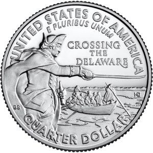 General George Washington Crossing the Delaware Quarter reverse