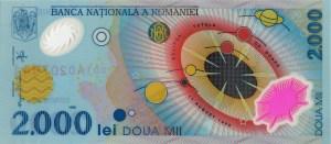 1999-series Romanian 2000 lei banknote