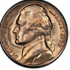 $1,116.00 Jefferson Nickel in this the1954 A Year in Review