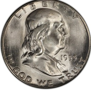 $69,000.00 Franklin Half dollar in this 1953 A Year in Review