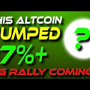 This Altcoin Just Pumped Over 17% | 800% Next? | Crypto News Today