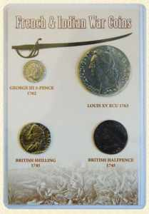 french and indain war coin set