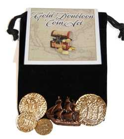 gold doubloon educational coin set