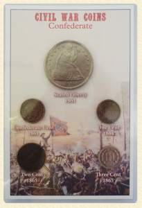 Civil War confederate coin set