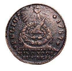 Fugio cent copper