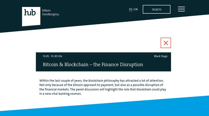 Bitcoin & Blockchain auf der hub conference