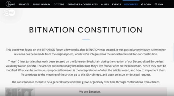 Deutsche Welle erklärt Bitnation