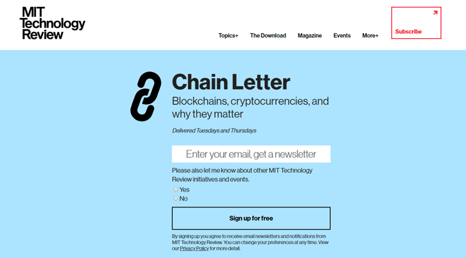 Bitcoin-Newsletter-Tipp – Chain Letter
