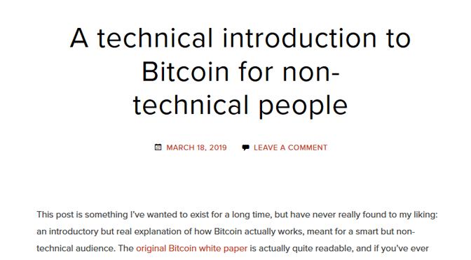 Bitcoin für Nicht-Techniker erklärt