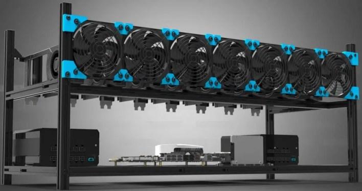 8 GPU Mining Rig Frame