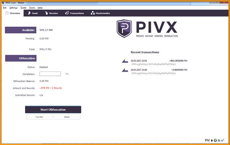 PIVX-GUI-Wallet