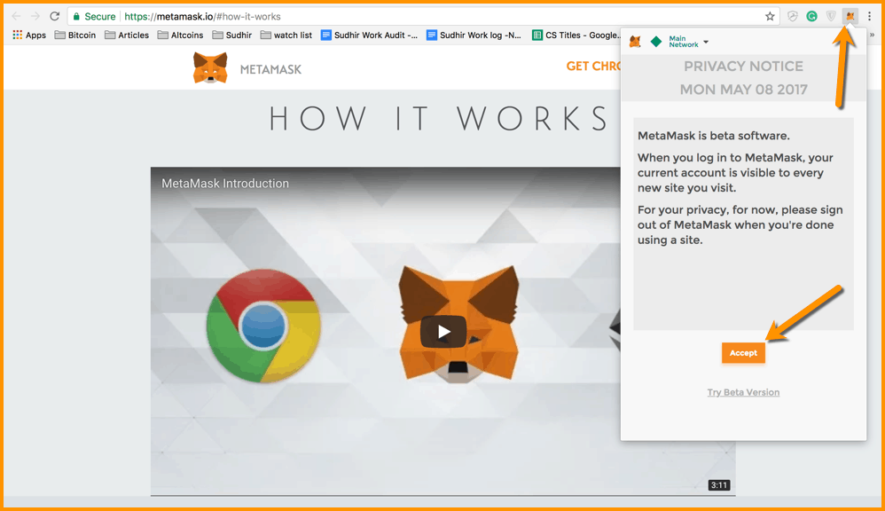 MetaMask Wallet Chrome Extension