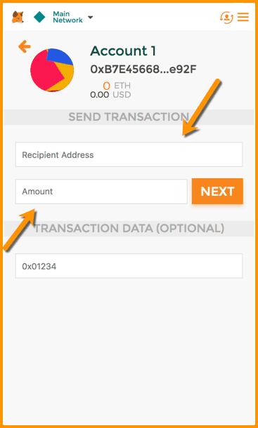 MetaMask Send Transaction